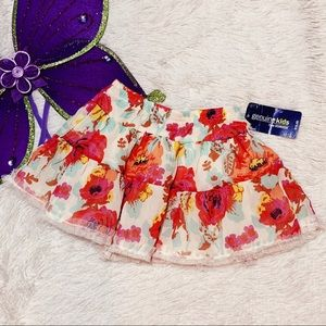 NWT | Floral Frilly Skirt | 5T